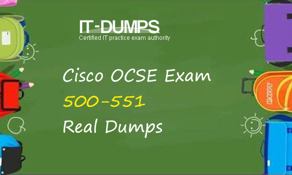 Cisco 500-551 Real Dumps