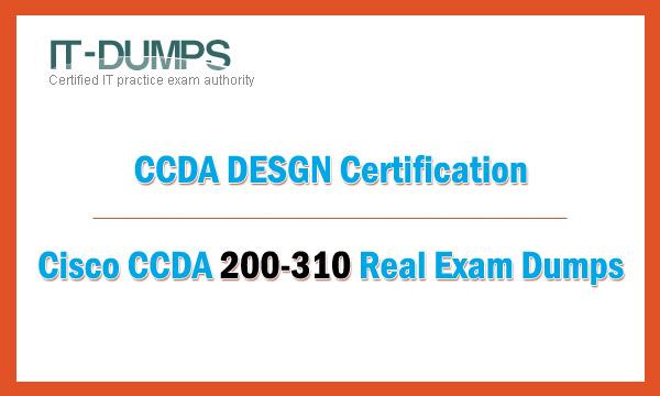 IT-Dumps CCDA 200-310 real exam dumps